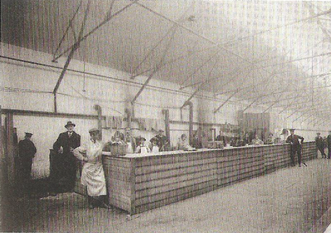 One of the two canteens at Rotherwas Munitions Factory where some of the team worked.